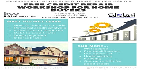 Free Credit Repair Workshop for Home Buyers tickets