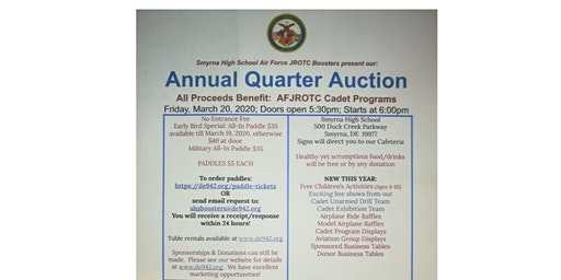 Smyrna High School JROTC Boosters Annual Quarter Auction