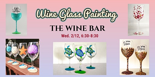 Wine Glass Painting at The Wine Bar