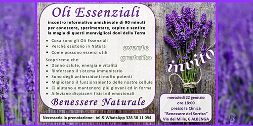 ALBENGA Benessere Naturale grazie agli Oli Essenziali Puri