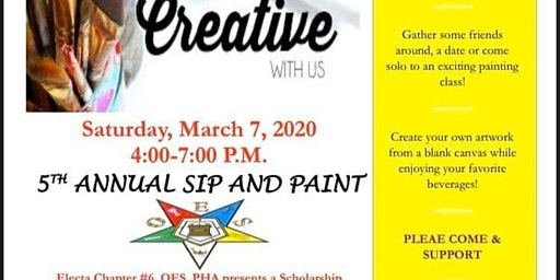Electa Chapter #6's 5th Annual Sip and Paint