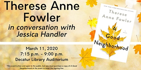Therese Anne Fowler in conversation with Jessica Handler tickets