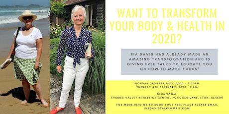 Health & Wellbeing talk by Pia Davis tickets