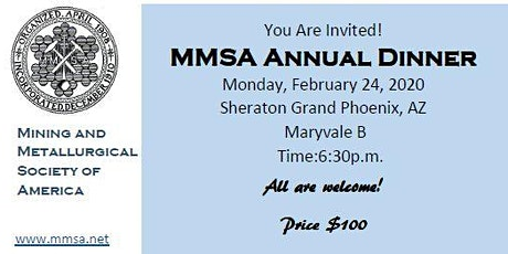 MMSA Annual Dinner 2020 tickets