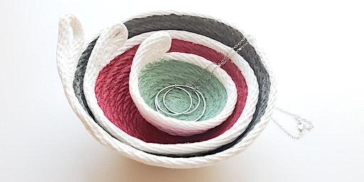 Painted Rope Nesting Bowls -Machine Sewn!