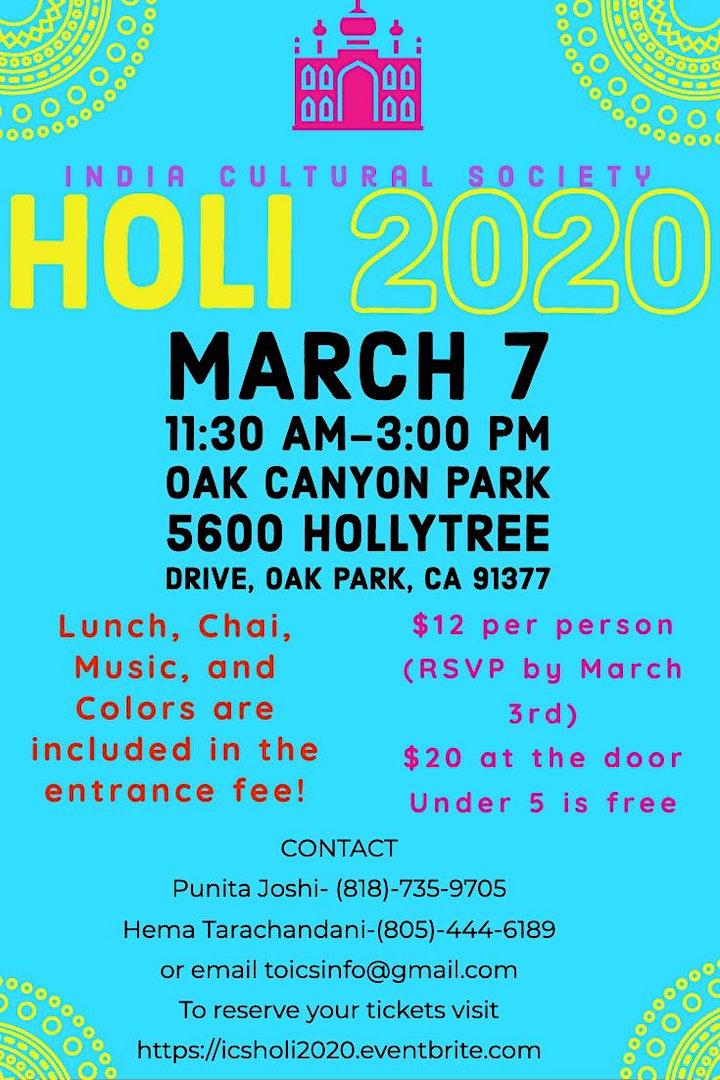 ICS Holi 2020 image