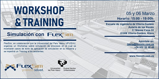 FlexSim Workshop y Training en la Universidad del País Vasco UPV/EHU