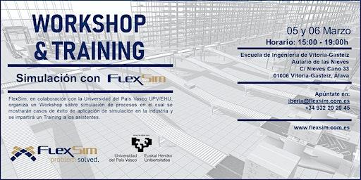FlexSim Workshop y Training en la Universidad del País Vasco UPV/EHU