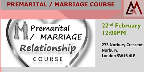 PreMARITAL / MARRIAGE RELATIONSHIP COURSE  tickets
