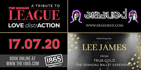 Love DistrAction | Erasured | Lee James (True Gold) | The 1865 tickets