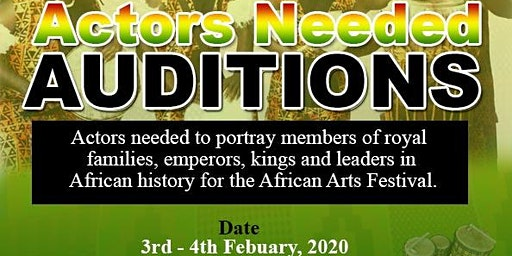 Auditions ~ AtoZed.org for African Arts Festival