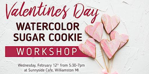 Valentines Watercolor Cookie Bouquet Workshop