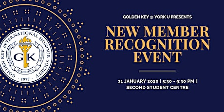 2020 York University Golden Key New Member Recognition Event tickets