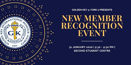 2020 York University Golden Key New Member Recognition Event tickets