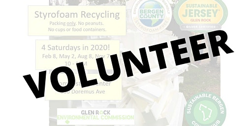 VOLUNTEER at the Styrofoam Drive in Glen Rock