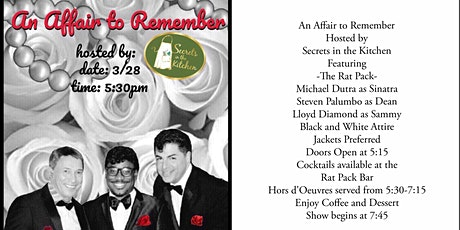 An Affair to Remember featuring The Rat Pack tickets