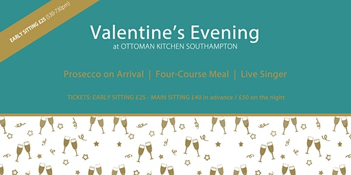 Valentines Day Southampton - Four Course Meal and Live Music