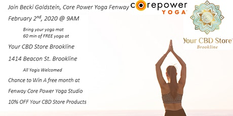Free Corepower Yoga at Your CBD Store Brookline tickets