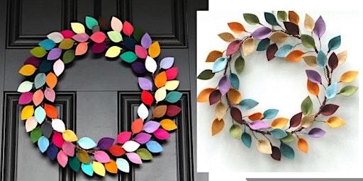 Pops of Color Wreath Class