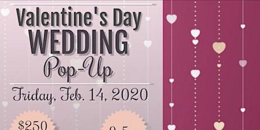 Valentine's Day Wedding Pop Up