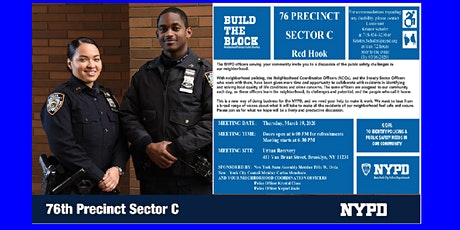 76 Pct Sector C Build the Block Meeting Red Hook tickets