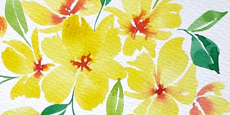 February Florals Watercolor Class (Lampeter Cafe) tickets