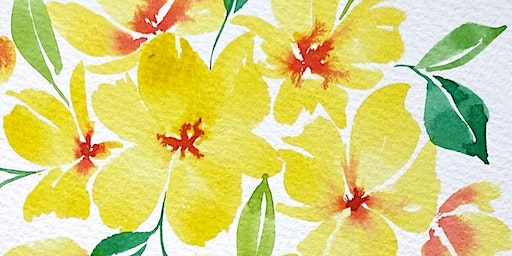 February Florals Watercolor Class (Lampeter Cafe)