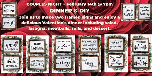 IT's COUPLES NIGHT for  VALENTINE'S DAY
