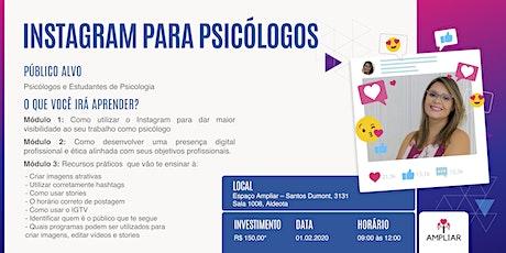 Oficina: Instagram para Psis - Prof. Rebeca Carvalho de Morais (II Turma) ingressos