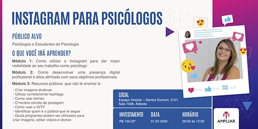 Oficina: Instagram para Psis - Prof. Rebeca Carvalho de Morais (II Turma)