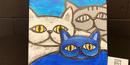 THINGS TO DO -PAINT & SIP EVENT: BLUE CAT