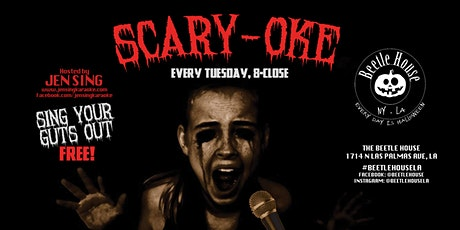 CURRENTLY POSTPONED Scary-Oke (Every Tuesday) 8-Close tickets