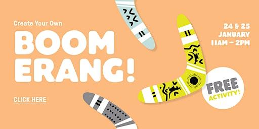 Free Boomerang Art Workshop
