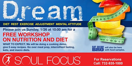 DREAM-Free Workshop on Nutrition and Diet tickets