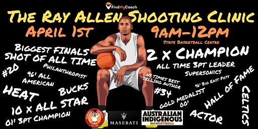 The Ray Allen Shooting Clinic @ State Basketball Centre