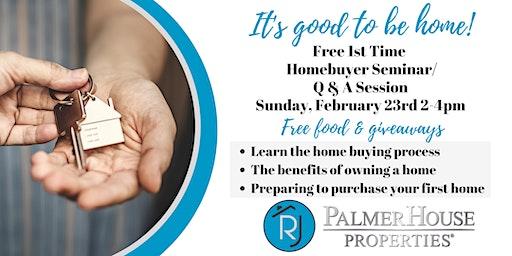 1st Time Homebuyer Seminar/Q&A