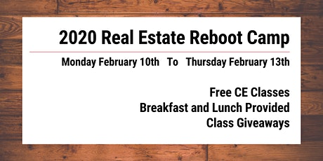 Real Estate Reboot Camp 2020 tickets