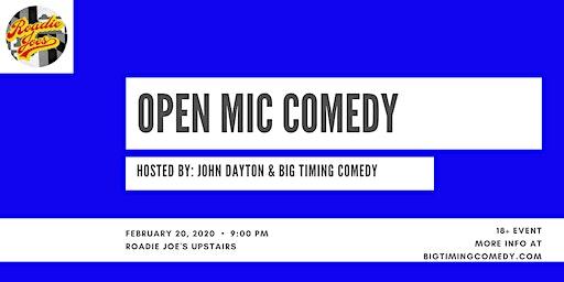 Open Mic Comedy!