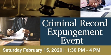 Criminal Record Expungement Event tickets
