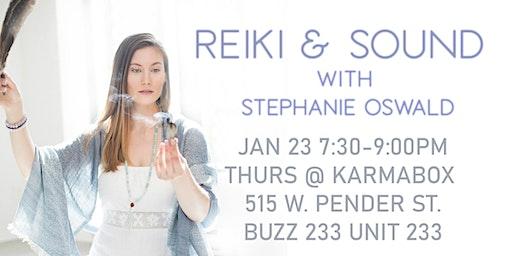 Reiki & Sound with Stephanie Oswald