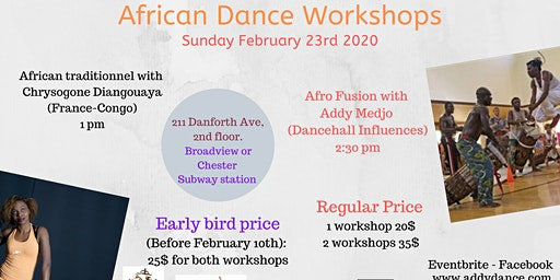 Dance workshop: Afro Fusion and Congolese
