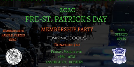 Brotherhood for the Fallen Boston Pre-St Patrick's Day Party 2020 tickets