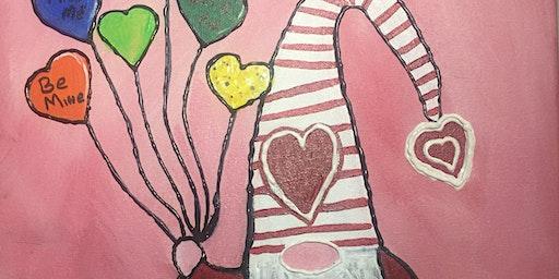Paint & Escape - Valentine Gnome