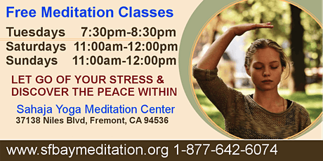 Free Meditation Classes in Fremont, CA tickets