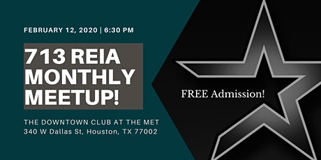 BIG NEWS! We're back!!! 713 REIA Massive Monthly Meetup! tickets