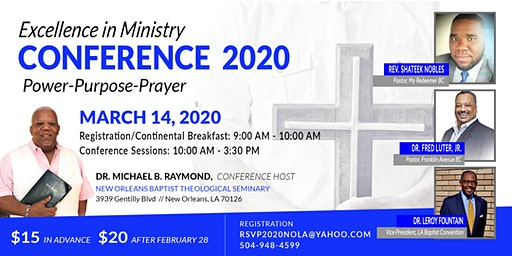 2nd Annual Excellence In Ministry Conference 2020