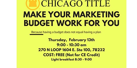Make Your Marketing Budget Work for You tickets
