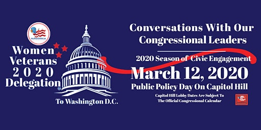 Women Veterans ROCK! Public Policy Day On Capitol Hill; March 12, 2020