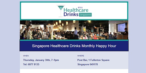 Singapore Healthcare Drinks Monthly Happy Hour