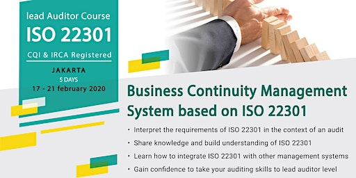 Lead Auditor Course ISO 22301 (IRCA Certified)
